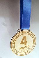 Медаль из дерева 3 мм с лентой
