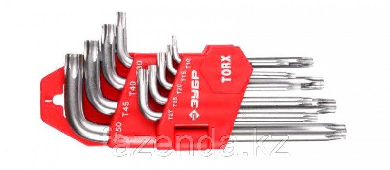 Ключи TORX комплект 9шт Т10-Т50