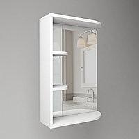 Зеркало в ванную 500 мм 2 полки радиус (Л/П)
