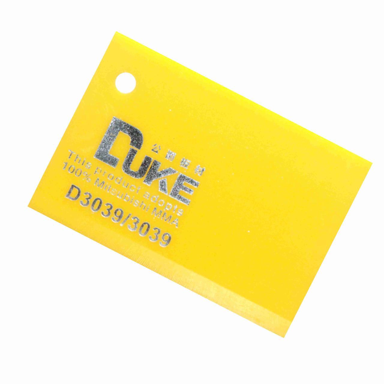 Светло-желтый листовой акрил №3039 (3мм) 1,22мХ2,44м