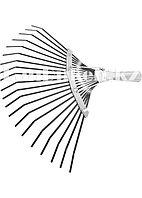 Грабли веерные 20 зубьев без черенка оксидированные плоский зуб СИБРТЕХ 61778 (002)