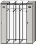 Шкафы секционные металлические для одежды, фото 4