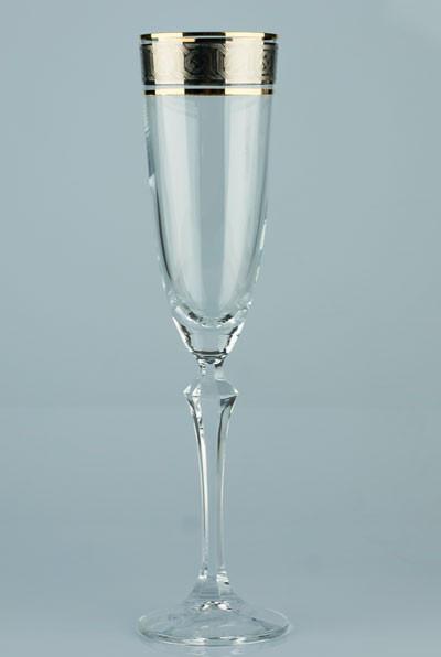 Фужеры Elisabeth шампанское 200мл. 6шт богемское стекло, Чехия 40760-Q8074-200. Алматы