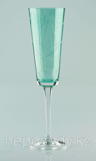 Фужеры Jive 180мл шампанское 6шт Богемское стекло, Чехия 40771-K0264-180. Алматы