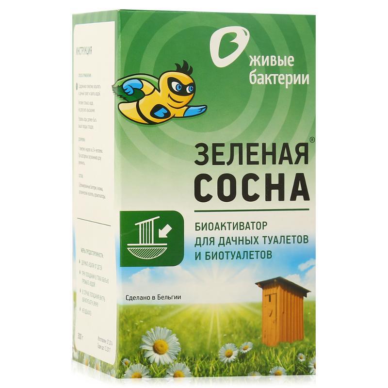 Биоактиватор для дачных туалетов Зеленая Сосна 300г