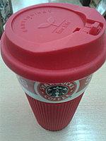 Термокружка Starbucks Красная, 280 мл, Керамика, Для кофе и чая
