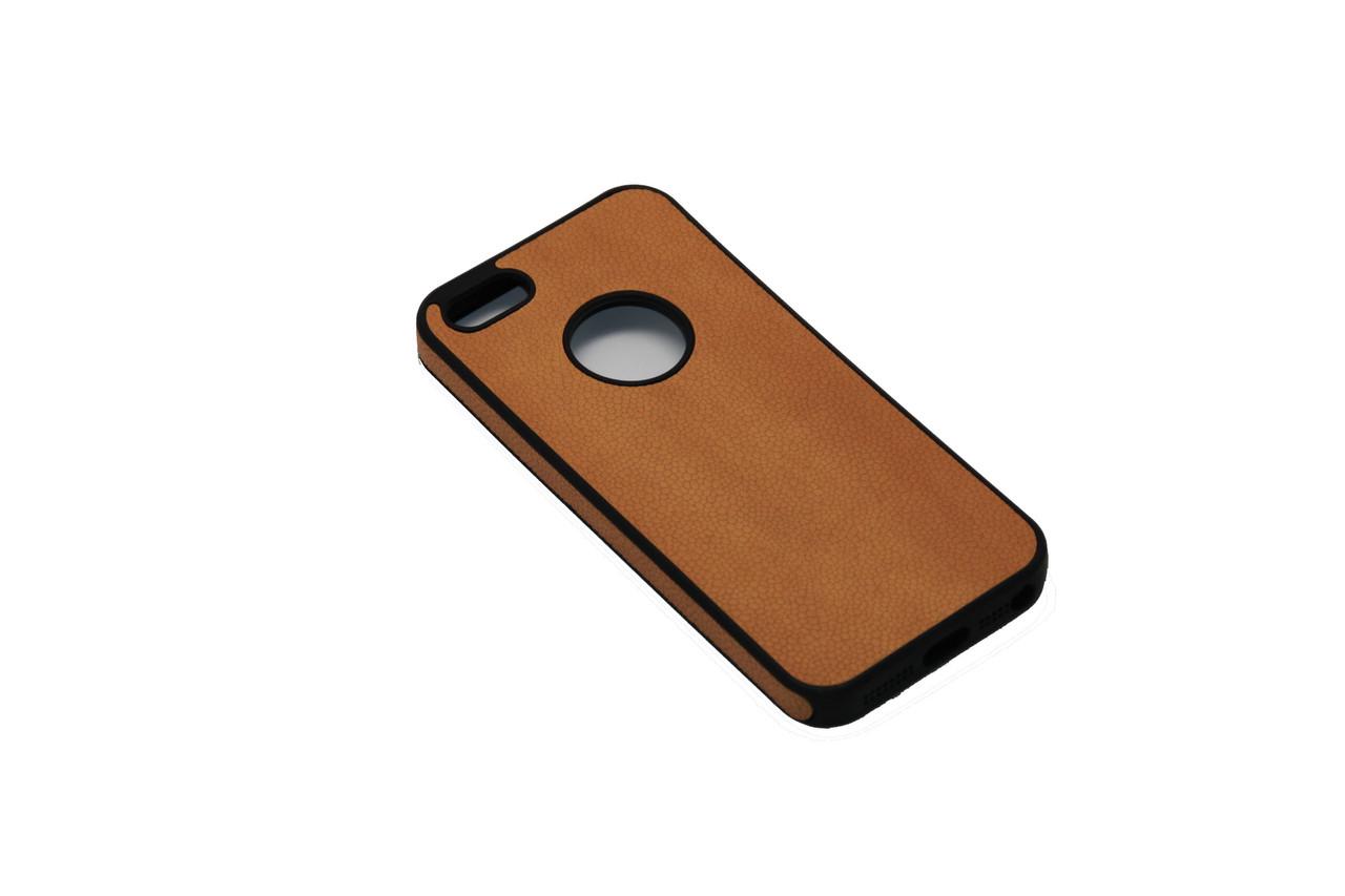 Чехол sCase с кожей iPhone 5S