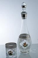 Набор для виски 7 пр. богемское стекло, Чехия 604/26/7 set kafar+whisky kl.ver.ob.pl. Алматы