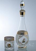Набор для виски 7 пр. богемское стекло, Чехия 604/30/7 set kafar+whisky kl.ver.ob.zl. Алматы