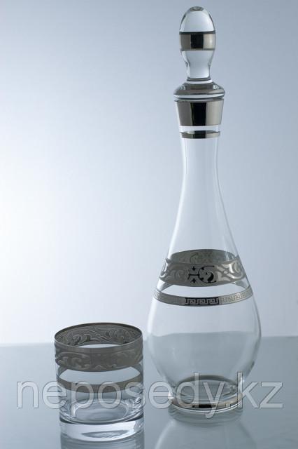 Набор для виски 7 пр. богемское стекло, Чехия 604/35/7 set karafa+ whisky mah.pruh.pl. Алматы