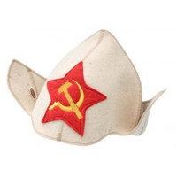 """Шляпа """"Эконом-модель"""" """"Буденовка"""" НП (цвет белый)"""