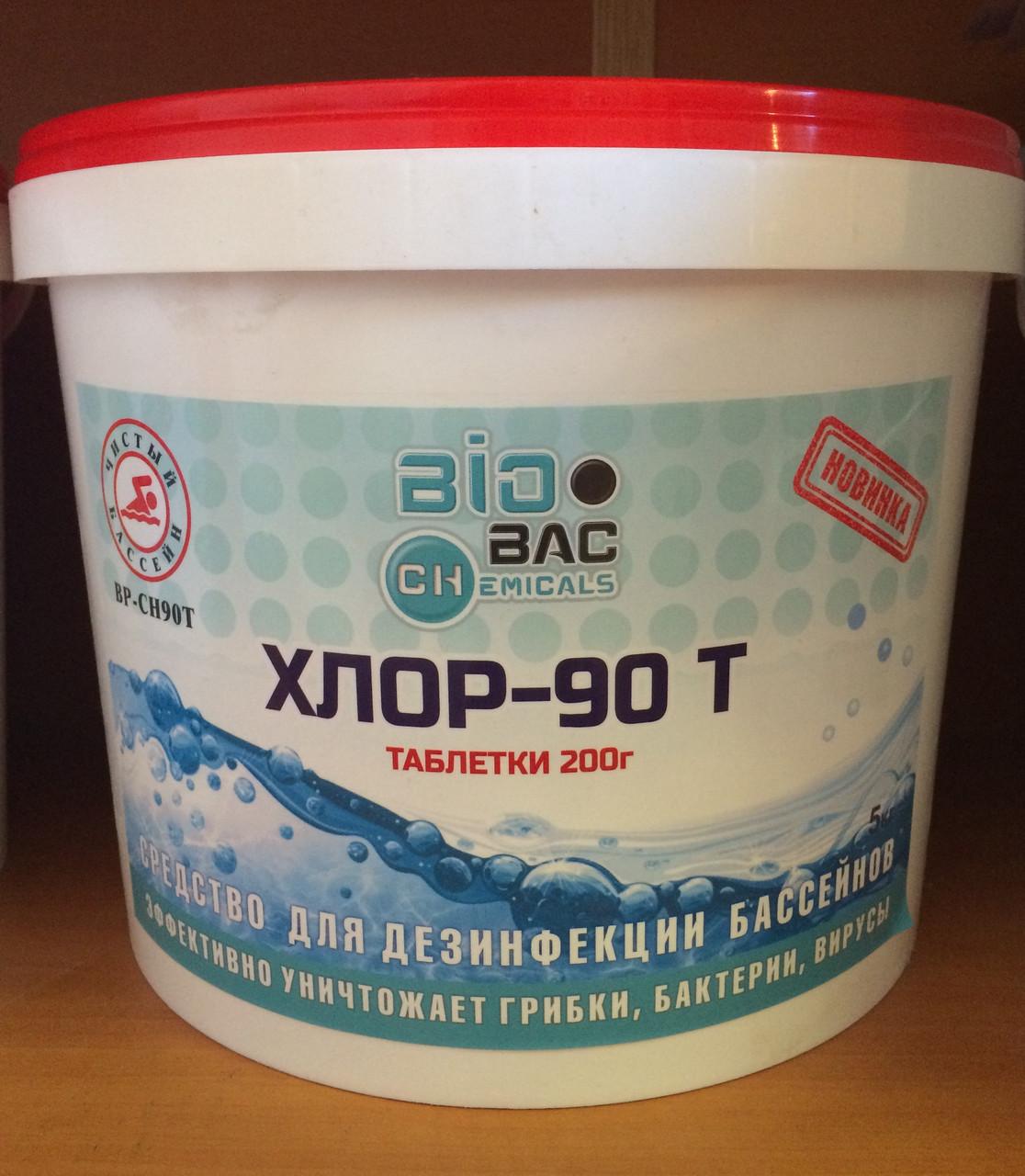 Для дезинфекции бассейнов Хлор 90 Т (медленный)