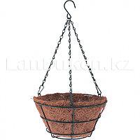 Кашпо подвесное с вкладышем из коковиты, диаметр 25 см PALISAD 69020 (002)