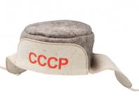 """Мужская шапка для бани """"Ушанка"""" """"СССР"""""""