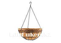 Кашпо декорированное подвесное с вкладышем из кокоса, диаметр 30 см PALISAD 69010 (002)