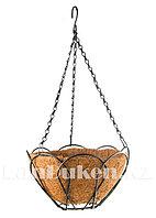 Кашпо декорированное подвесное с вкладышем из кокоса, диаметр 25 см PALISAD 69005 (002)