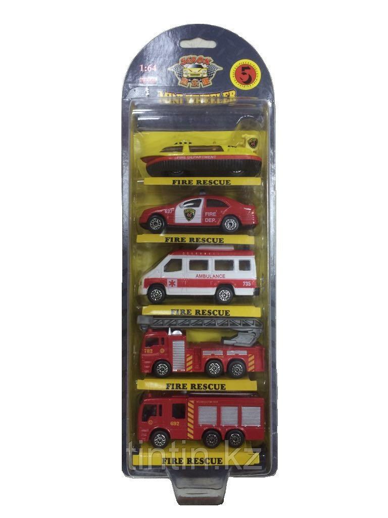 """Набор моделек 5 шт """"Пожарная техника"""", металлические, в коробке, 1:64, 773002BC"""