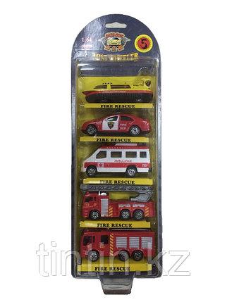 """Набор моделек 5 шт """"Пожарная техника"""", металлические, в коробке, 1:64, 773002BC, фото 2"""