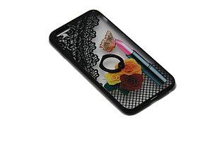 Чехол с кольцом силиконовый Samsung J1 mini, фото 2