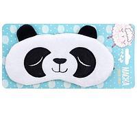 Маска для сна фигурная Киска и Панда