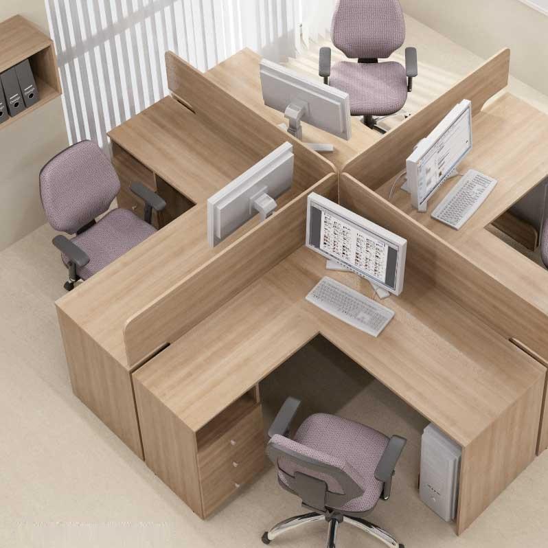 Комплект 4 рабочих столов