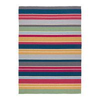 Ковер безворсовый 170х240 РАВНСО ручная работа разноцветный ИКЕА, IKEA, фото 1