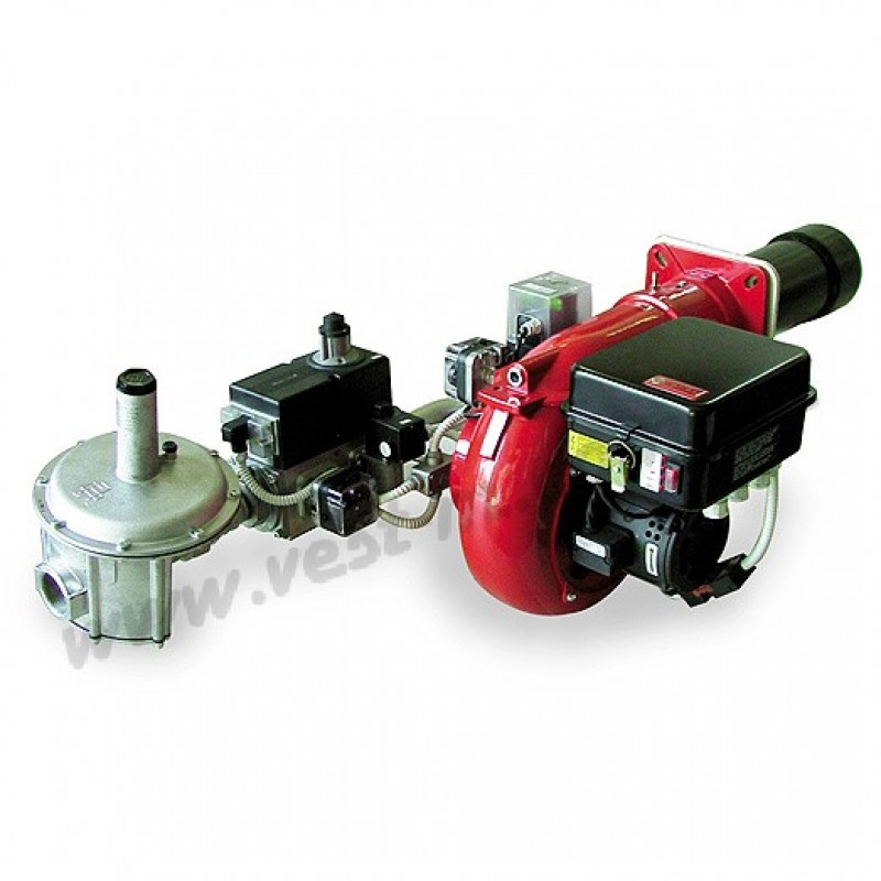 Горелка газовая фирмы FBR модель GAS Р-100/2, 2-х ступенчатая мощность 581-1162 кВт