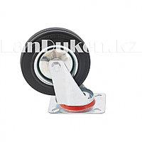 Колесо поворачиваемое без тормоза 20 см, платформенное крепление СИБРТЕХ 68718 (002)