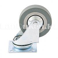 Колесо поворачиваемое без тормоза 10 см, платформенное крепление СИБРТЕХ 68715 (002)