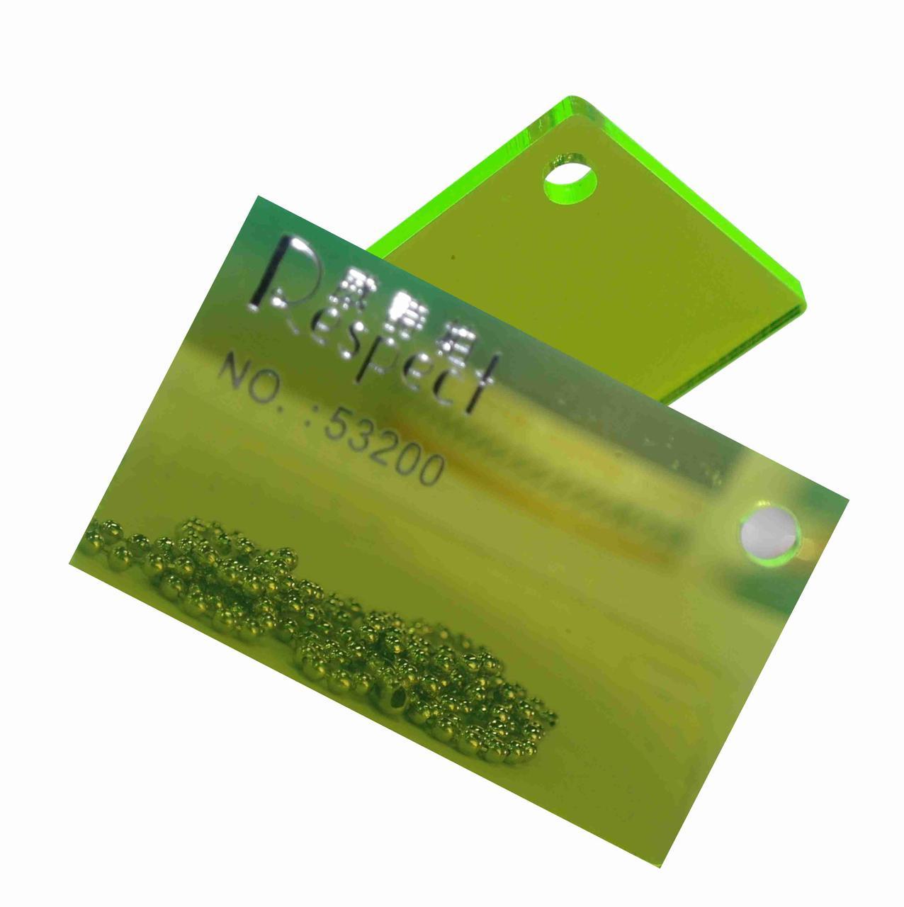 Акрил Флюоресцентный зеленый №53200 (3мм) 1,22мХ2,44м