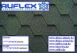 Гибкая черепица RUFLEX Sota (Зеленый базелик), SBS (СБС) модифицированная т+7(707) 5705151, фото 7