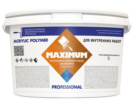 """Краска акриловая """"Maximum"""" для потолков"""
