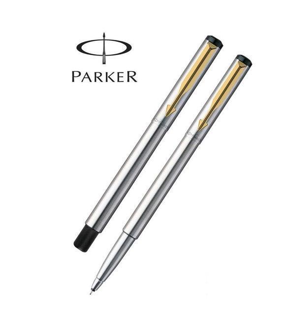Ручка-роллер Parker Vector Т03, цвет Steel, стержень Mblue, в фирменном футляре