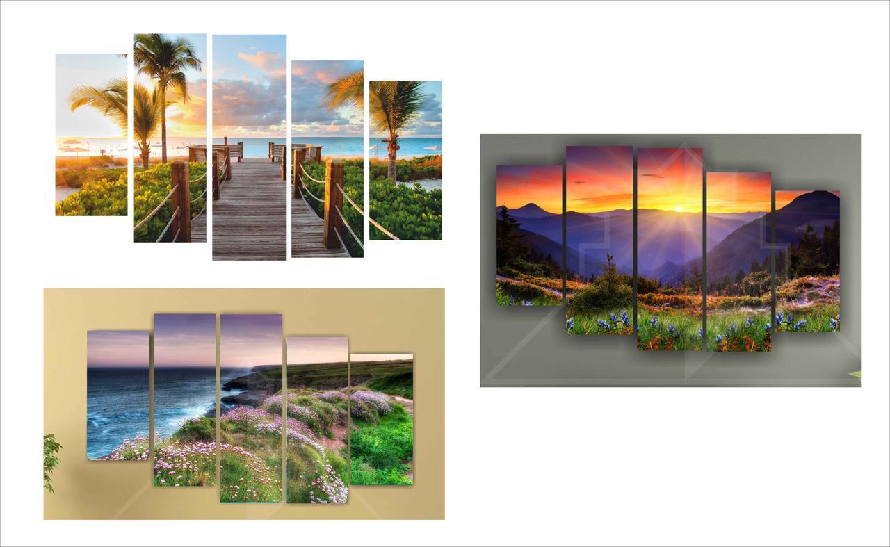 Триптих, модульные картины по индивидуальному заказу