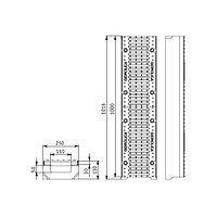 Лоток SUPER ЛВ-15.25.13 бетонный с решеткой щелевой чугунной (комплект), фото 1