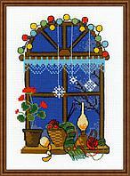 """Набор для вышивания крестом """"Зимнее окошко"""", фото 1"""