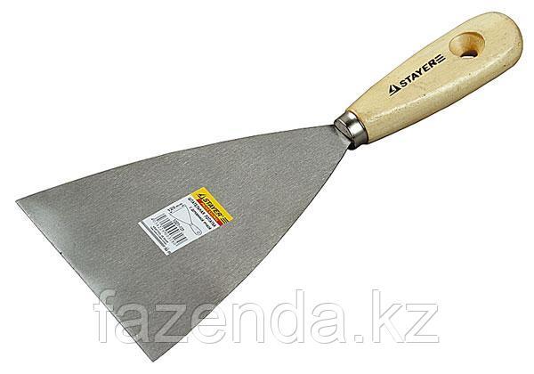 Шпатель с деревянной ручкой, серия MASTER  100мм