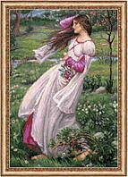 """Набор для вышивания крестом """"Ветреницы"""" по мотивам картины Д.У. Уотерхауса, фото 1"""