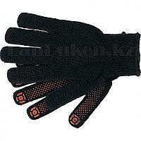 """Перчатки вязаные хлопкоэфирные плюшевые ПВХ """"точка"""" 7 кл. 55 гр. СИБРТЕХ 67769 (002)"""