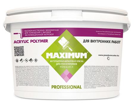 """Краска акриловая """"Maximum"""" интерьерная моющаяся 4 кг"""