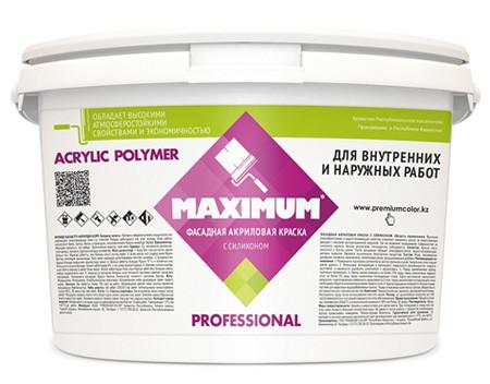 """Краска акриловая """"Maximum"""" атмосферостойкая , База C для колеровки в насыщенные цвета, Банка 5,6 кг"""