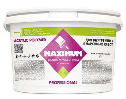 """Краска акриловая """"Maximum"""" атмосферостойкая , База C для колеровки в насыщенные цвета, Банка 5,6 кг, фото 2"""