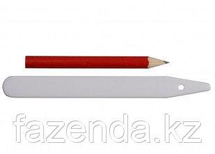 Ярлык 125мм 25шт GRINDA с карандашом