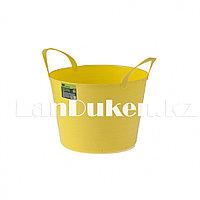 Ведро гибкое сверхпрочное на 14 литров, желтое СИБРТЕХ 67502 (002)
