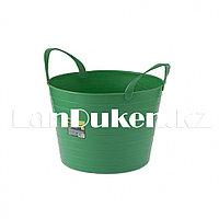 Ведро гибкое сверхпрочное на 14 литров, зеленое СИБРТЕХ 67501 (002)