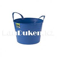 Ведро гибкое сверхпрочное на 14 литров, синее СИБРТЕХ 67503 (002)