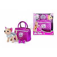 """Собачка Чихуахуа """"Гламур"""" с розовой сумочкой и бантом"""