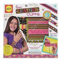 Набор для создания кожаных браслетов-манжеток, от 7 лет