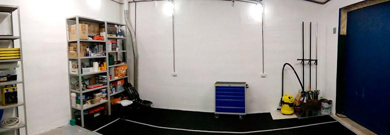 Оборудование гаража удобным рабочим местом и системами хранения 3