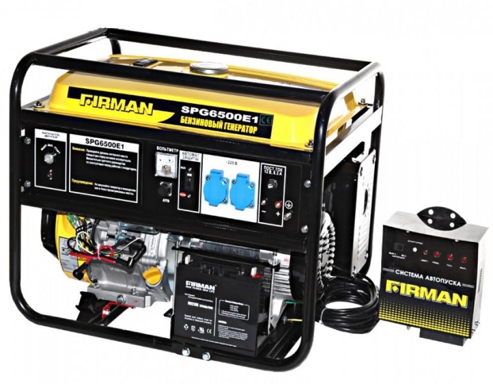 Бензиновый генератор Firman SPG 6500E1 + ATS